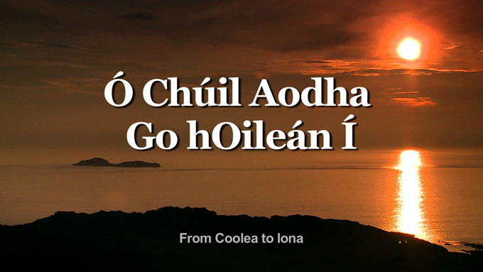 Premiere of FROM COOLEA TO IONA